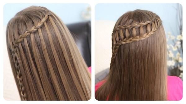 Сейчас модный тренд – струящийся водопад из кос (на фото).