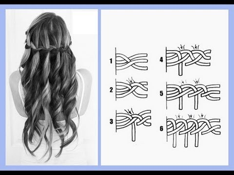 Схема плетения «водопада».