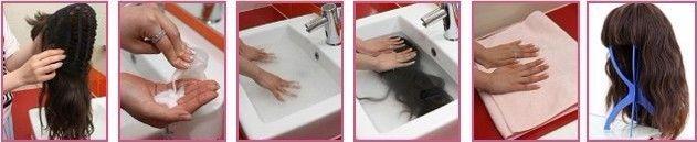 Можно ли искусственные волосы мыть