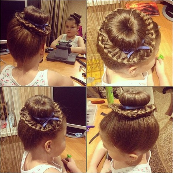 83Как сделать рожки из волос на голове ребенку