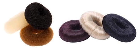 Слева – обычные пончики, справа – обмотанные волосами