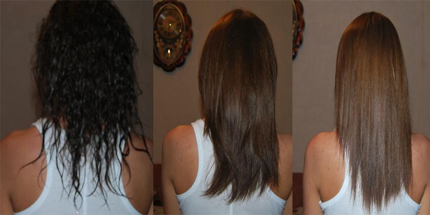 Цвет волос после смывки