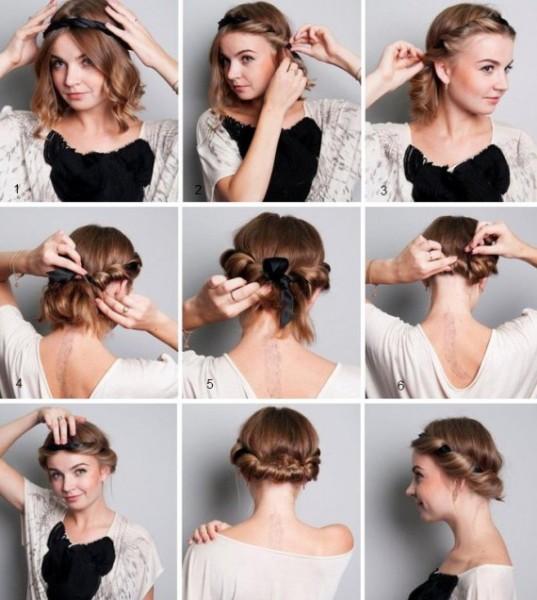 Совет! В начале создания греческой причёски лучше всегда делать основу - прямой пробор с накрученными по всей длине прядями по бокам. Благодаря этому вы выстроите правильную её форму.
