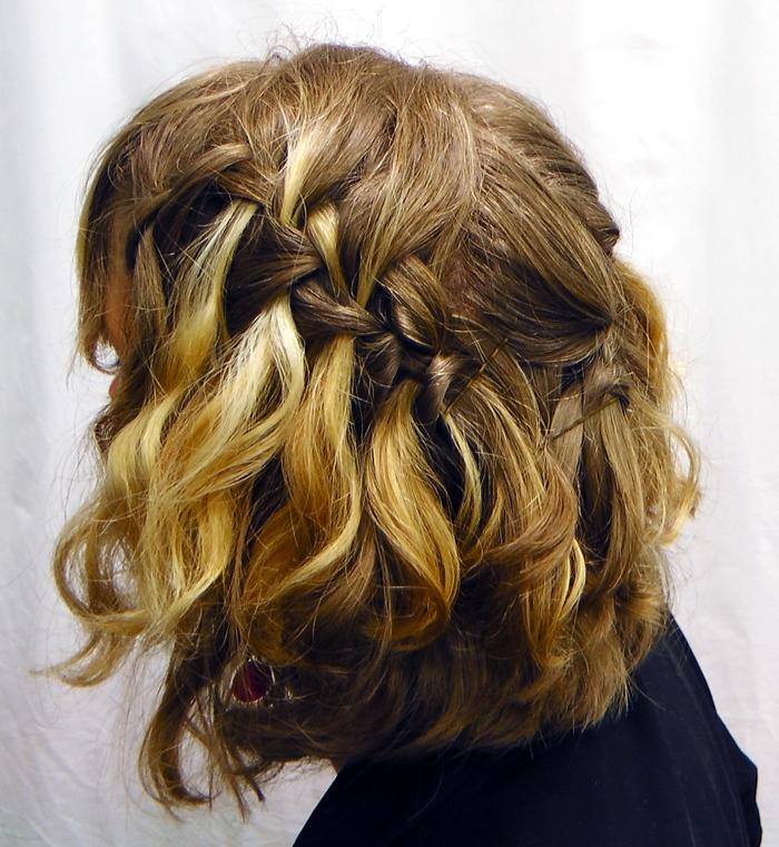 Укладки на средние волосы с плетением