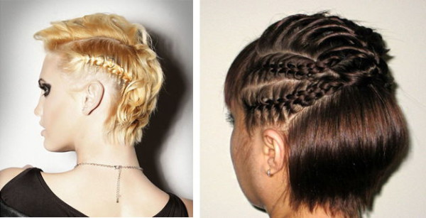 Причёски с плетением на короткие волосы