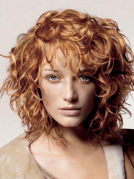 Легкая завивка на средние волосы фото