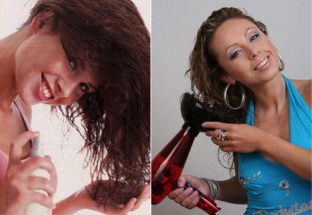 Сушить волосы с помощью фена можно только на низких температурах с обязательным использованием термозащитных средств
