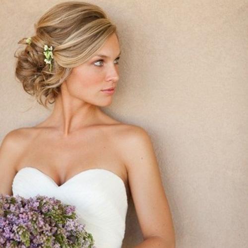 прическа свадебная фото на средние волосы
