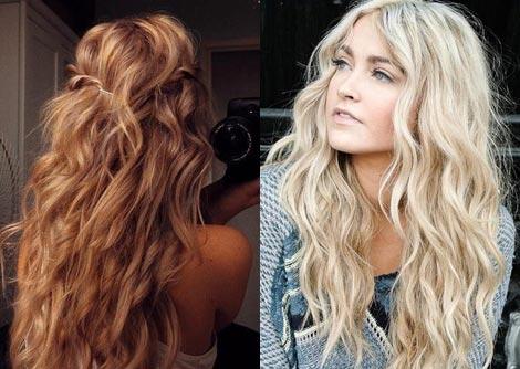 Как сделать волосы волнами крупной