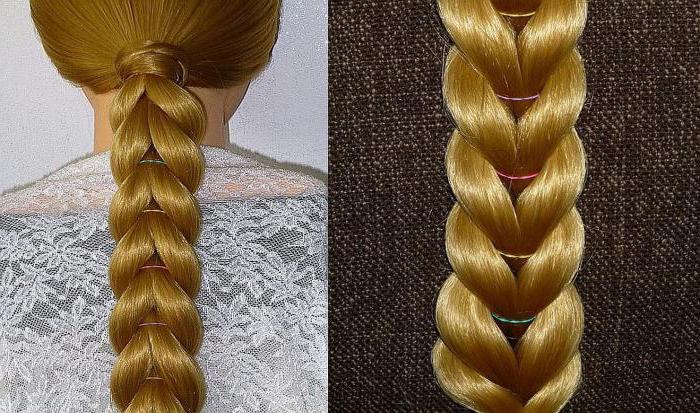 Как плести французскую косу с резинками