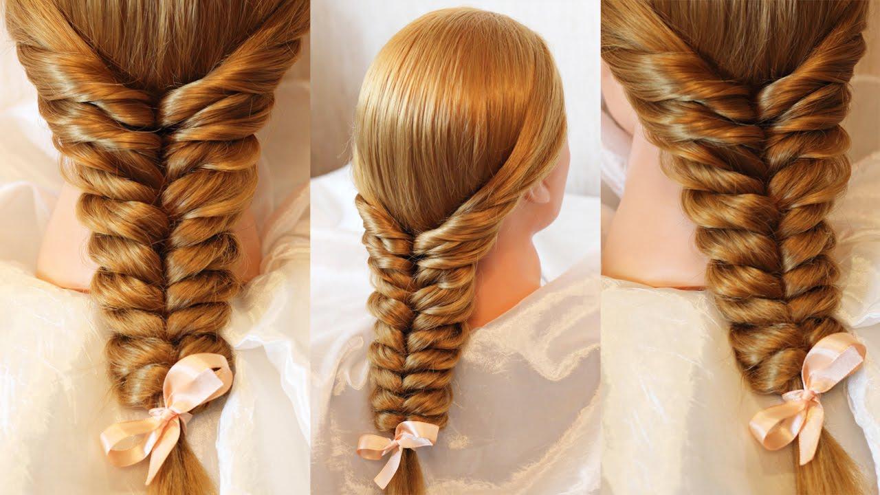 Плетение косы с помощью резиночек
