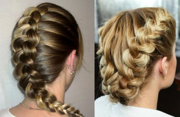Косы из волос средней длины