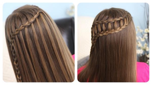 Такие прически на длинные волосы водопад имеют множество вариантов исполнения.