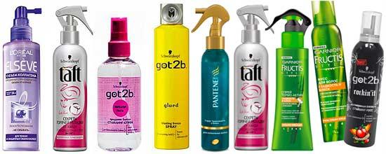 Термозащитная косметика очень разнообразна, можно выбрать на свой вкус