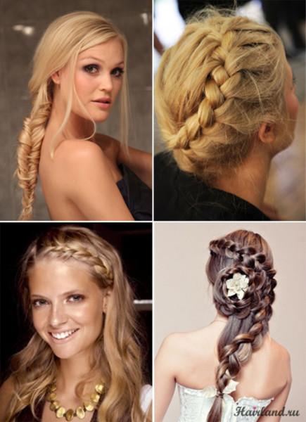 Царственно и ухоженно смотрится коса в любой ее разновидности: колосок, французская или рыбий хвост.