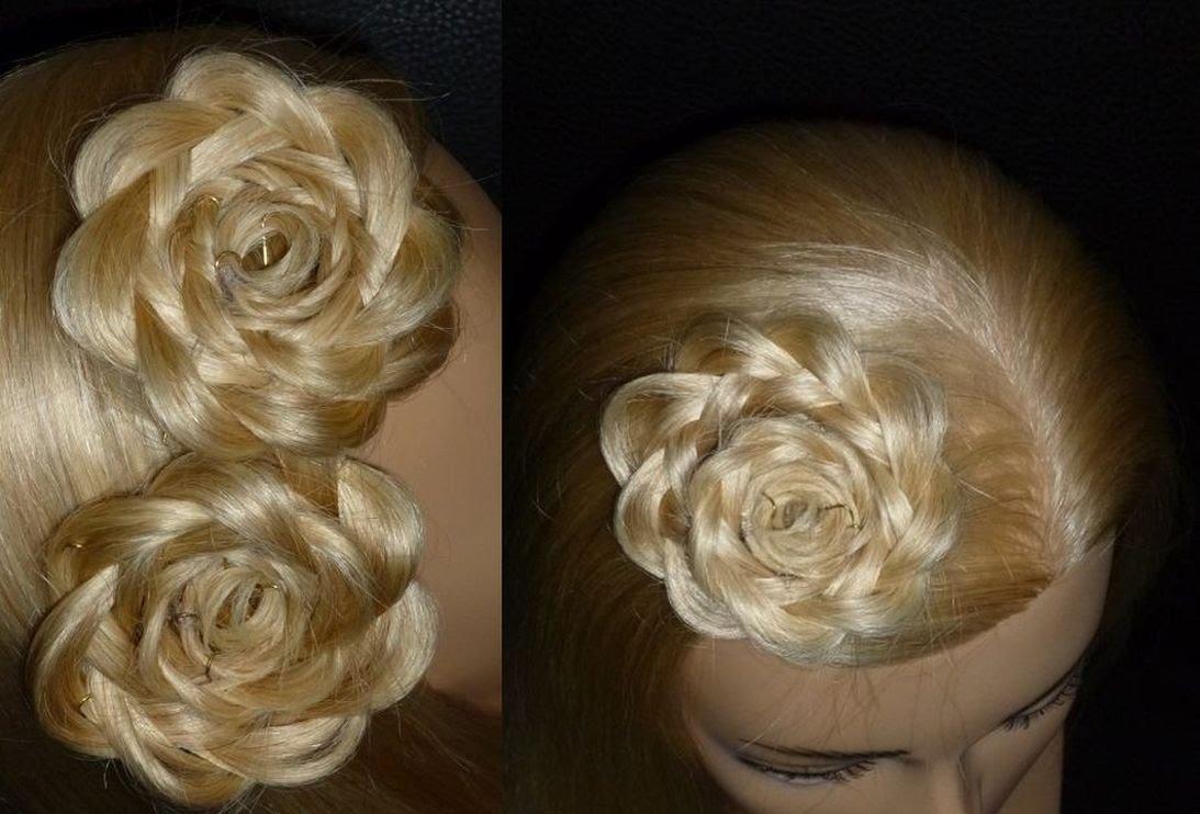 Красивые цветы из волос