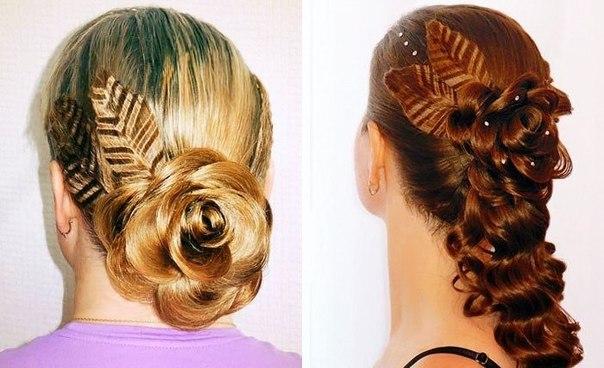 Прически плетения цветы из волос