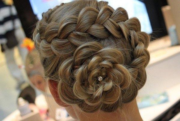 Своими руками цветы из волос