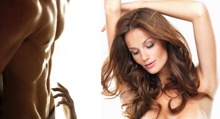 Удаление волос может быть выполнено на любых участках тела