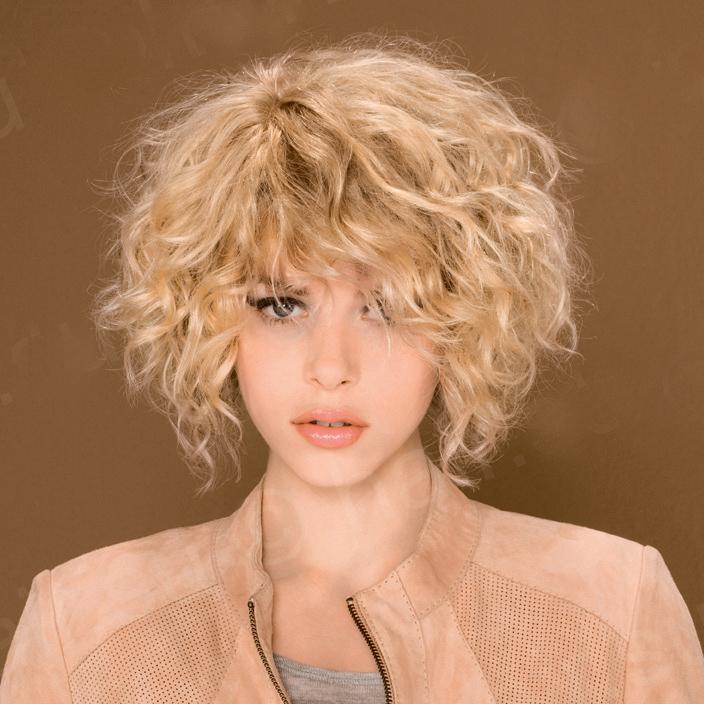 укладка бигуди на средние волосы