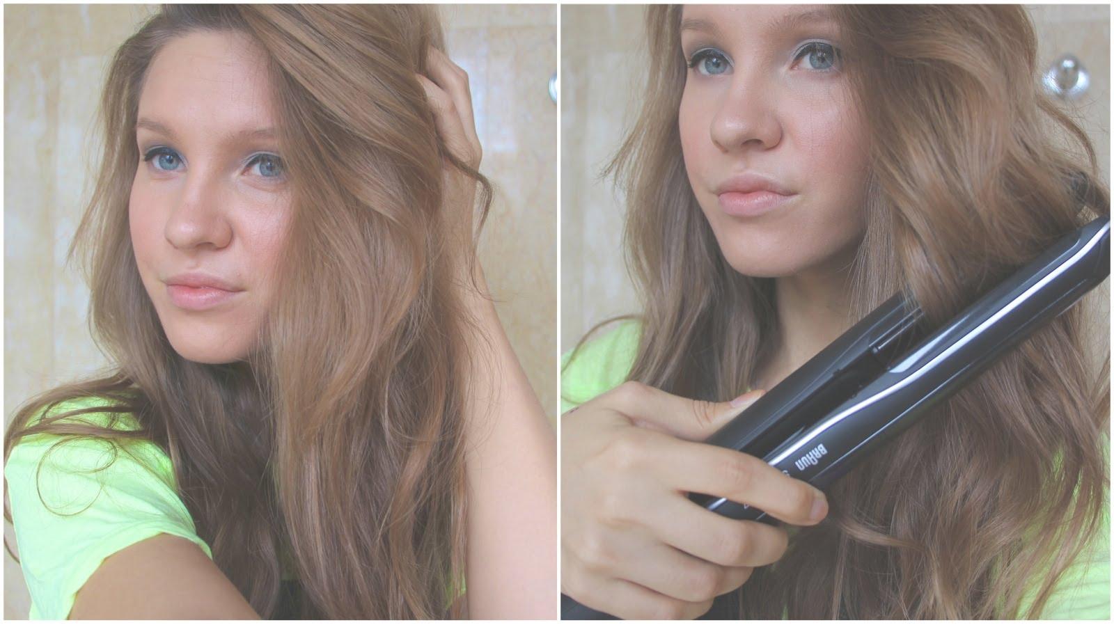 Как сделать кудри утюжком на длинные волосы фото пошагово