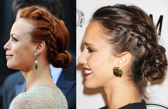 В качестве важного акцента в формировании элегантного образа мировых звезд стилисты часто прибегают к нетривиальному пучку из кос