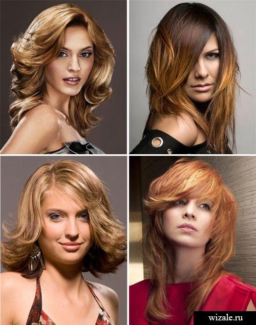 Прическа стрижки каскад на средние волосы