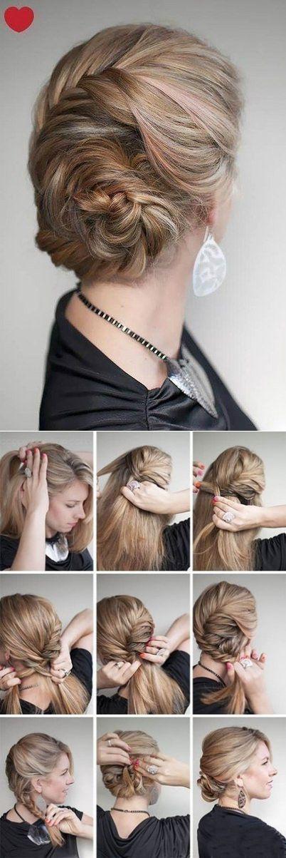 прическа ракушка из косы