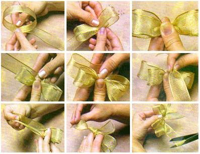 Детские бантики из лент пошаговая инструкция