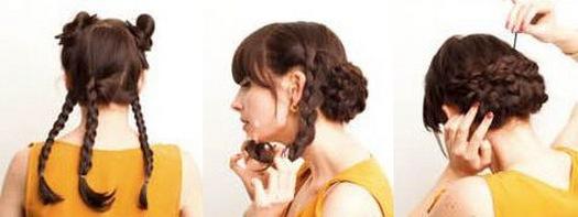 Веселые пучки – отличный вариант для барышень, желающих создать задорный и веселый образ