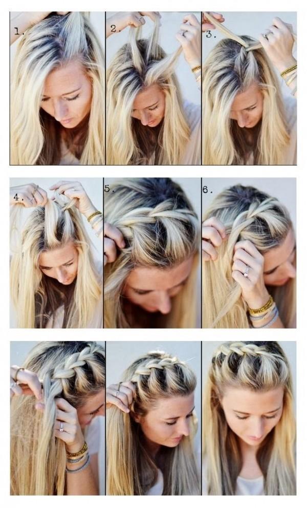 Плетения на средние волосы своими руками