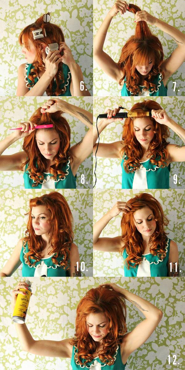Как сделать причёску локоны на бок