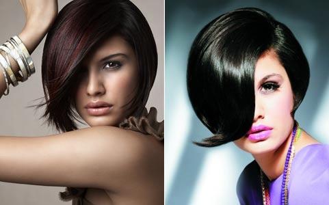 Цвет баклажан волосы фото