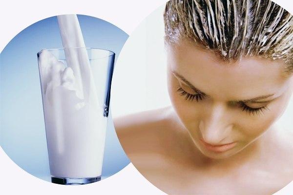Маска для волос из молока прокисшего