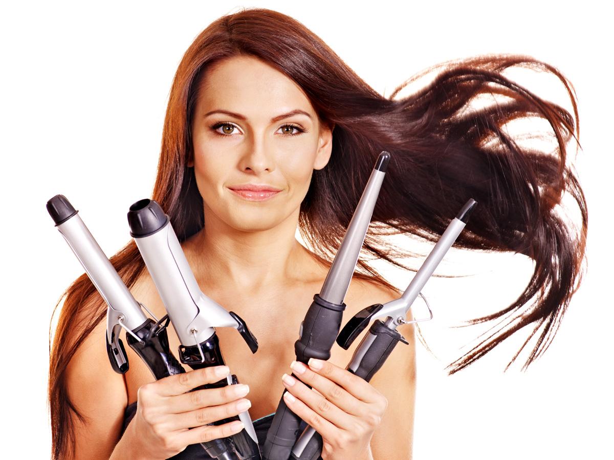 Тройные щипцы для завивки волос