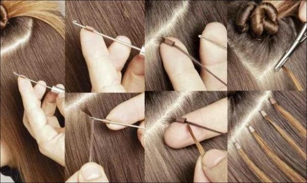 Японский способ наращивания прядок.