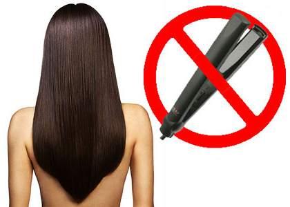 Выпрямления волос в домашних условиях без утюжка