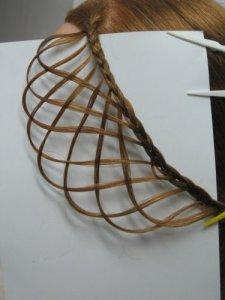 Паутинка плетение из волос