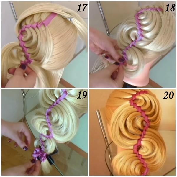 Завершающие манипуляции в создании прекрасной волны из волос