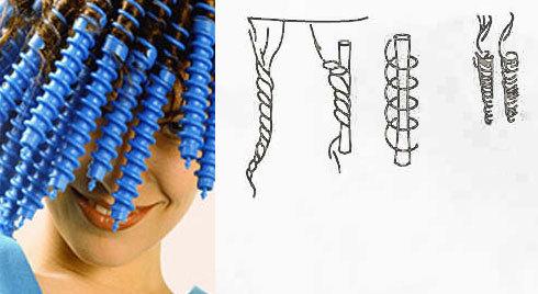 Спиральки для волос как пользоваться