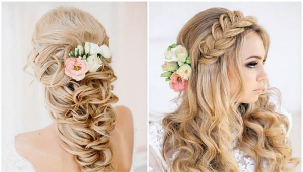 Живые цветы в волосах – очарование и гармония образа