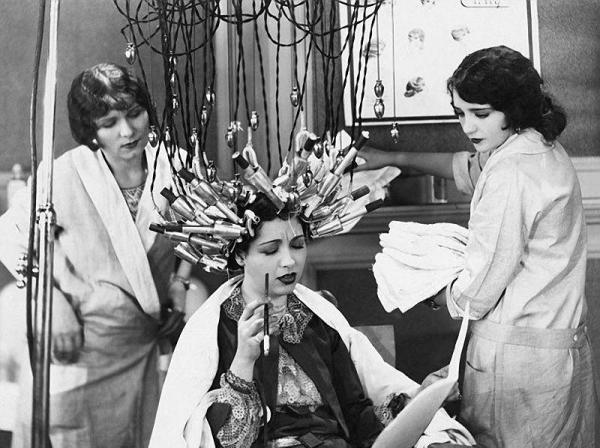А так выглядели первые салонные процедуры