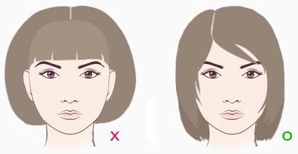 Даже схематичное изображение позволяет оценить, какая прическа смотрится лучше
