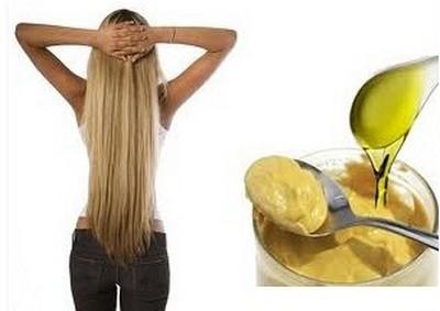 Для локонов с сухой структурой надлежит использовать «жирные» горчичные смеси.