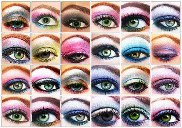 Для получения гармоничного образа важно не только подобать цвет волос, но и правильно выполнить макияж (инструкция по подбору оттенков теней для зеленых глаз)