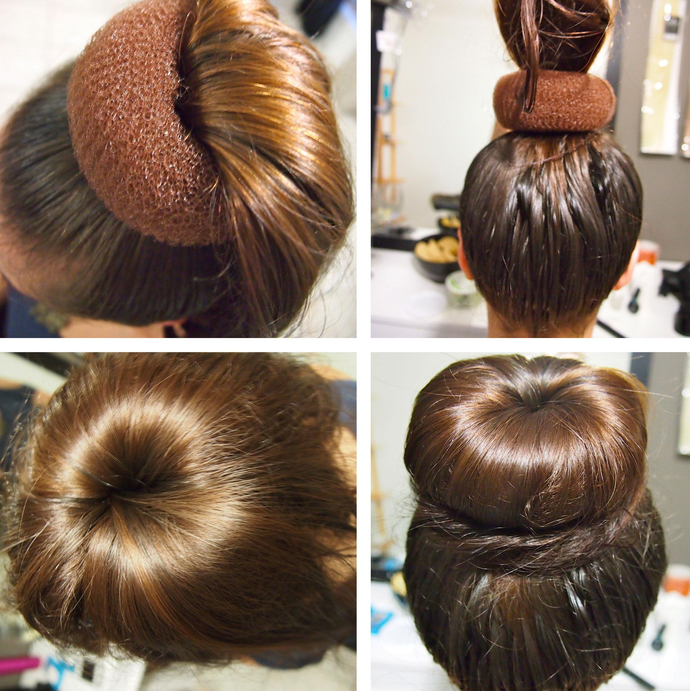 Как закрепить валик на волосах прически 691