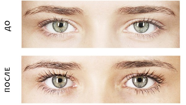 До и после процедуры окраски