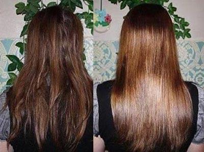 До и после цветного глазирования