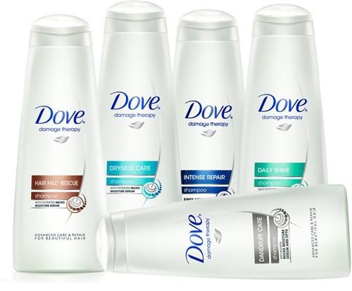 Dove очень удобен в использовании, так как имеет кремообразную консистенцию.