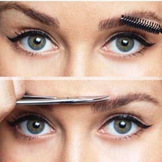Если форма бровей от природы идеальная, то просто расчесав их и удалив слишком длинные или ненужные волоски, можно получить скаус без макияжа.